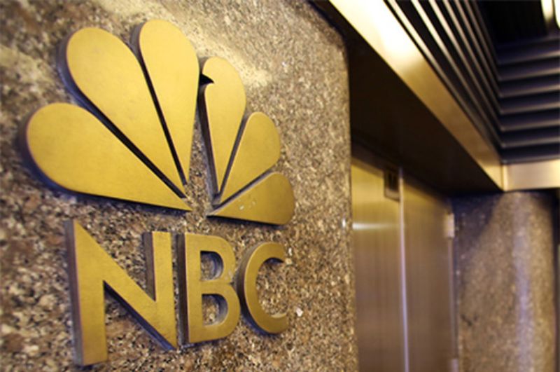 nbc logo by elevator slide