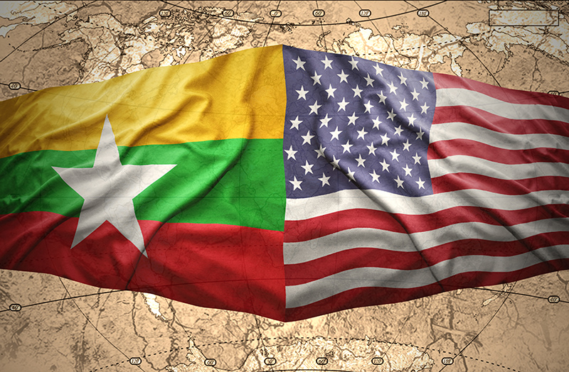 us flag and myanmar flag featured image